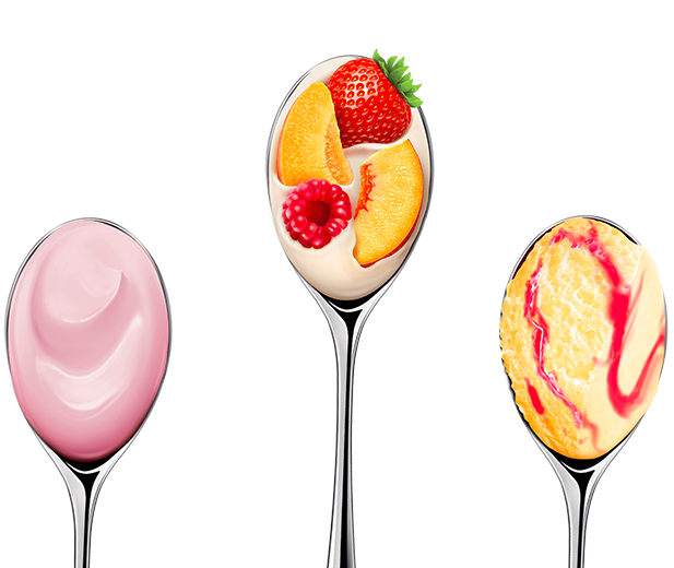 fruity yoghurts and mousses